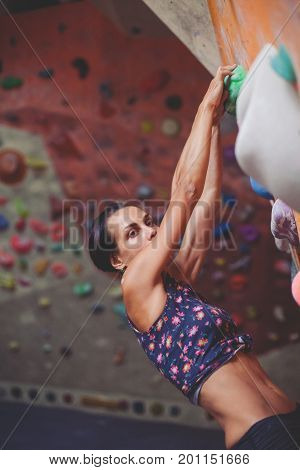 Girl On The Climbing Wall.