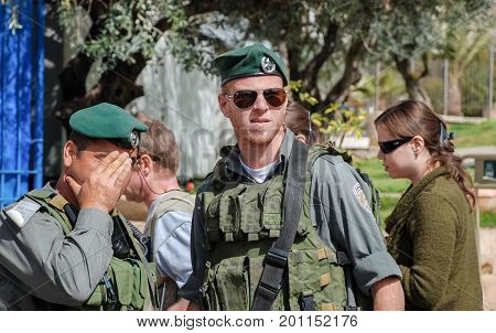 Undefined Israeli Soldier On Hebron Streets