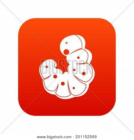 Worm icon digital red for any design isolated on white vector illustration