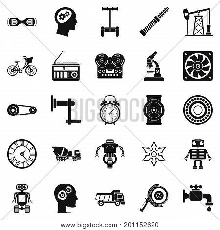 Gear icons set. Simple set of 25 gear vector icons for web isolated on white background