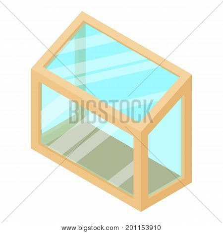 Balcony window frame icon. Isometric illustration of balcony window frame vector icon for web