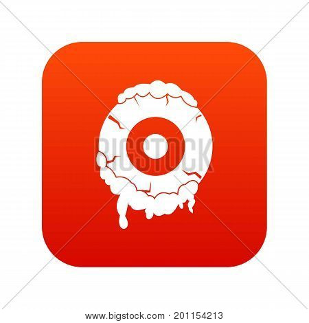 Scary eyeball icon digital red for any design isolated on white vector illustration