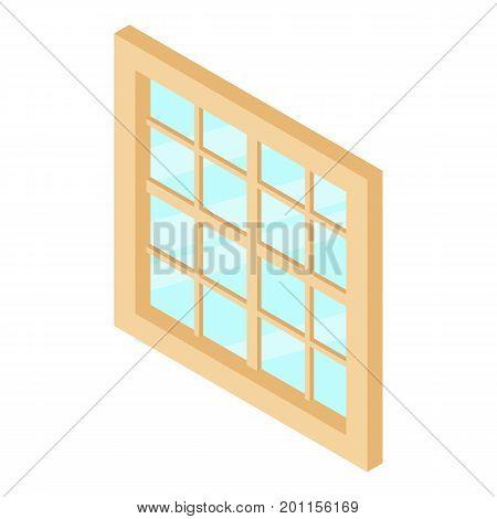 Lattice window frame icon. Isometric illustration of lattice window frame vector icon for web