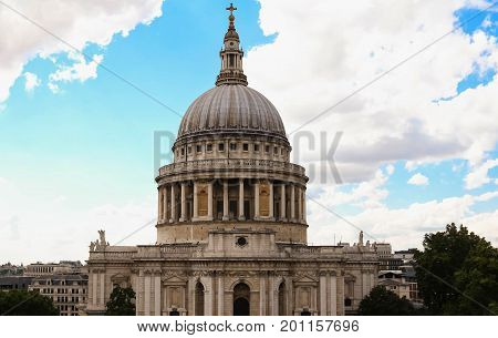 The Saint Paul's cathedral is one of the most famous and most recognisable sights of London.
