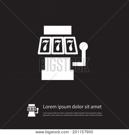 777 Vector Element Can Be Used For Slot, Machine, 777 Design Concept.  Isolated Slot Machine Icon.