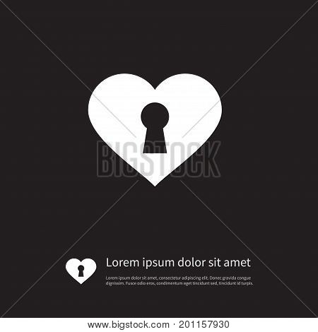 Close Vector Element Can Be Used For Heart, Lock, Close Design Concept.  Isolated Lock Icon.