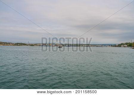 Tug In The Ship's Bay Of Sevastopol