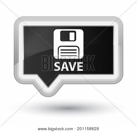 Save (floppy Disk Icon) Prime Black Banner Button