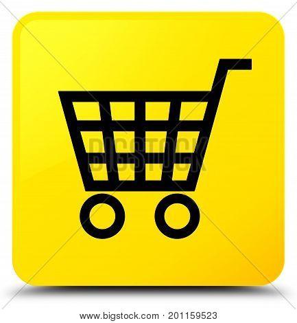 Ecommerce Icon Yellow Square Button