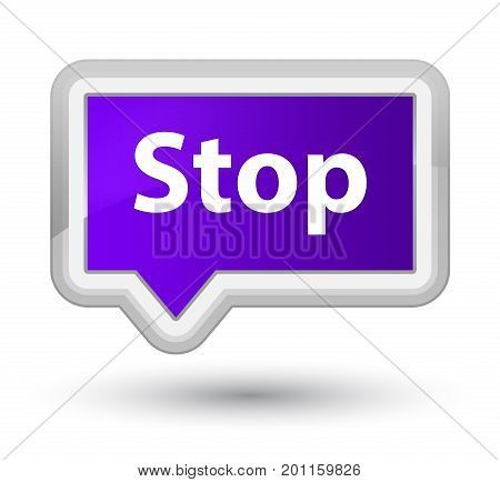 Stop Prime Purple Banner Button