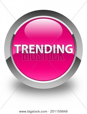 Trending Glossy Pink Round Button