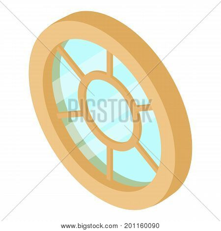 Roof window frame icon. Isometric illustration of roof window frame vector icon for web