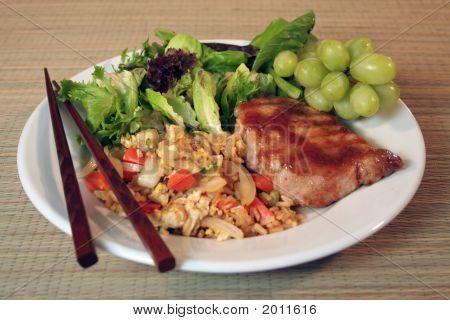 Grilled Pork Chops With Plum Glaze