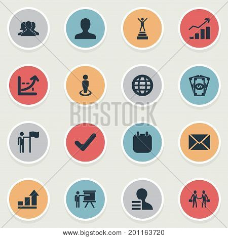 Elements Recruitment, Cash Pay, Accomplishmeent And Other Synonyms Correct, Employee And Bill.  Vector Illustration Set Of Simple Solution Icons.