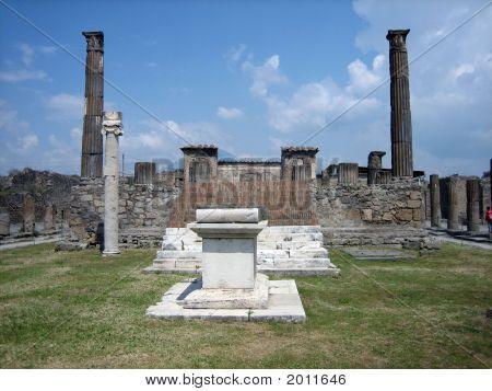 Ancient Roman Temple Ruins