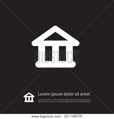 Academy Vector Element Can Be Used For Academy, Courthouse, Theater Design Concept.  Isolated Theater Icon.