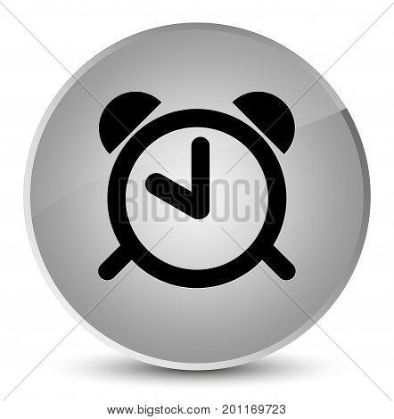 Alarm Clock Icon Elegant White Round Button