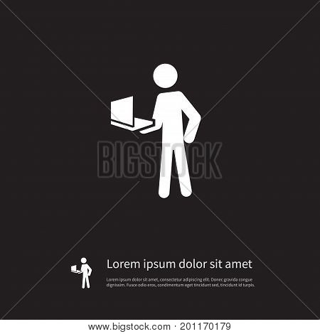 Developer Vector Element Can Be Used For Developer, Learning, Boy Design Concept.  Isolated Learning Icon.