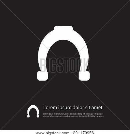 Horseshoe Vector Element Can Be Used For Shoe, Horseshoe, Metal Design Concept.  Isolated Shoe Icon.