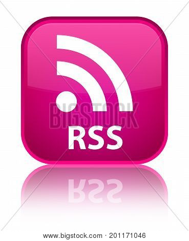 Rss Special Pink Square Button