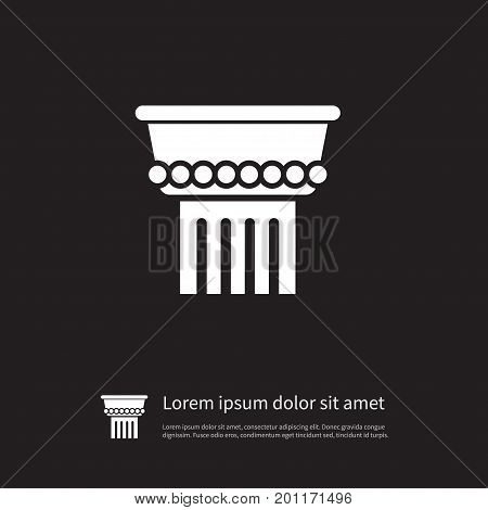 Column Vector Element Can Be Used For Column, History, Marble Design Concept.  Isolated Marble Icon.