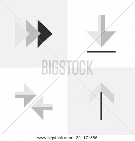 Elements Loading, Export, Onward And Other Synonyms Arrow, Export And Loading.  Vector Illustration Set Of Simple Pointer Icons.