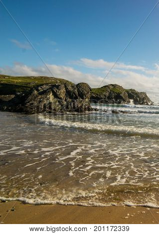 Porth Dfarch beach, one of north wales numerous coastline landmarks