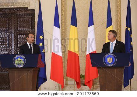 Emmanuel Macron And Klaus Iohannis