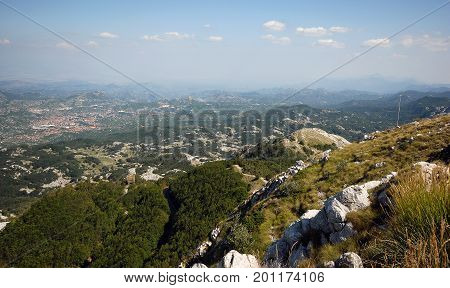 Mountain landscape in inland of Montenegro, Europe