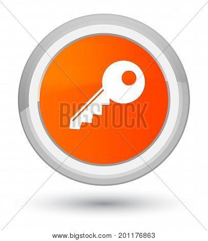 Key Icon Prime Orange Round Button