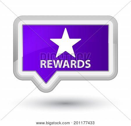Rewards (star Icon) Prime Purple Banner Button
