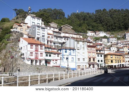 View Of The Hill Full Of Colouring Houses In Cudillero, Spain