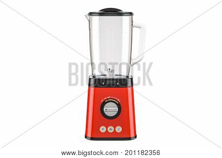 Red electric blender 3D rendering isolated on white background
