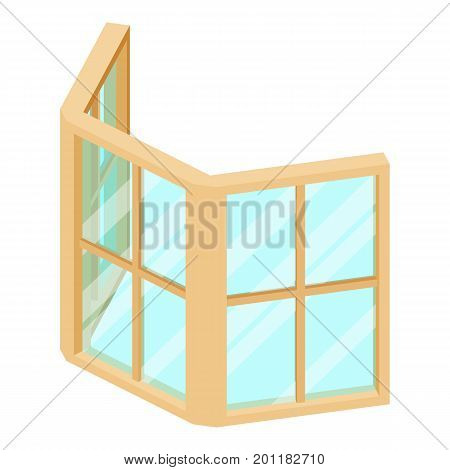 Facade window frame icon. Isometric illustration of facade window frame vector icon for web