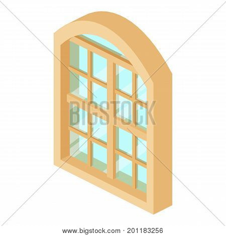 Restaurant window frame icon. Isometric illustration of restaurant window frame vector icon for web