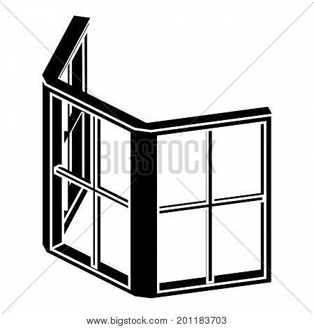 Facade window frame icon. Simple illustration of facade window frame vector icon for web