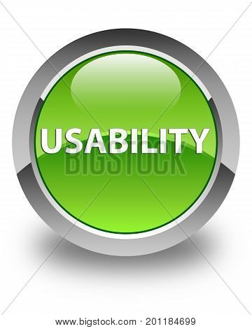 Usability Glossy Green Round Button