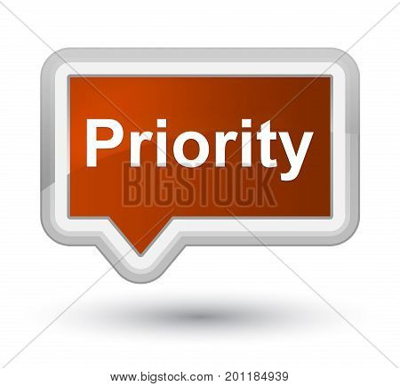 Priority Prime Brown Banner Button