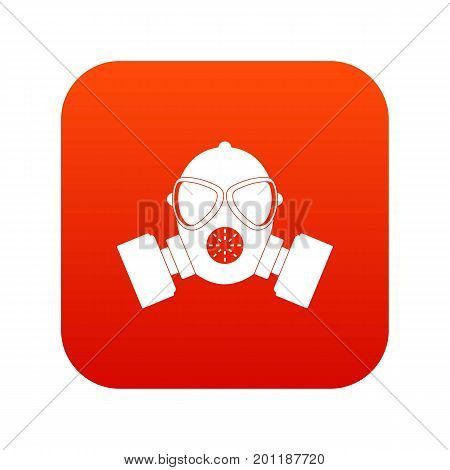 Respirator icon digital red for any design isolated on white vector illustration