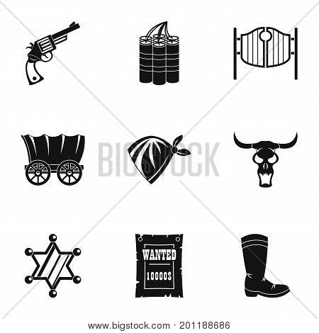 Sheriff icon set. Simple set of 9 sheriff vector icons for web isolated on white background