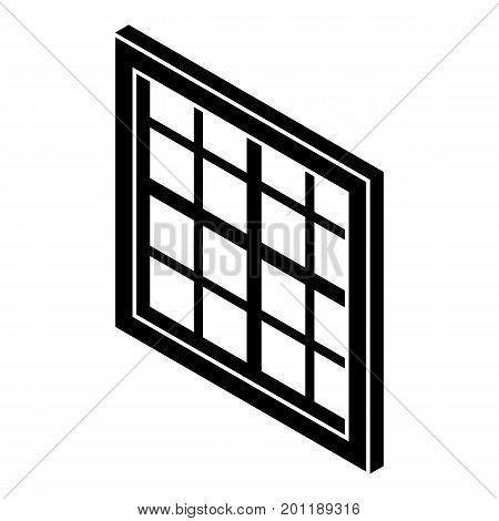 Lattice window frame icon. Simple illustration of lattice window frame vector icon for web