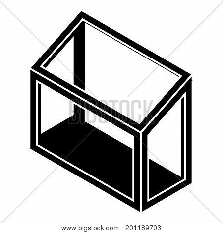 Balcony window frame icon. Simple illustration of balcony window frame vector icon for web