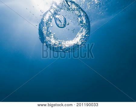 Underwater Bubble ring Underwater Bubble ring Underwater.