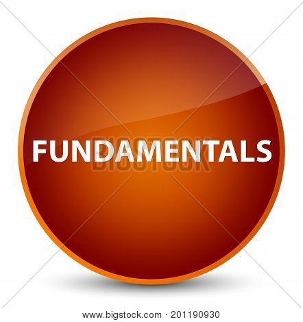 Fundamentals Elegant Brown Round Button