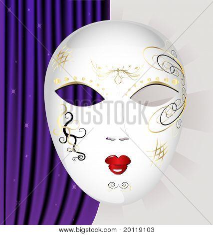 white Carnival Mask