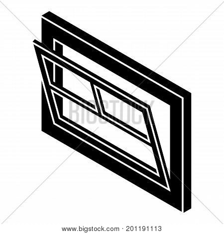 Open window leaf icon. Simple illustration of open window leaf vector icon for web