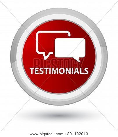 Testimonials Prime Red Round Button