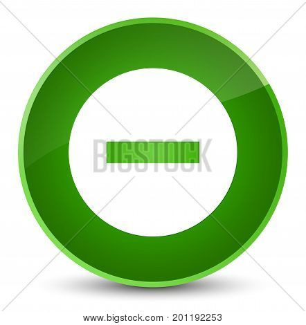 Cancel Icon Elegant Green Round Button