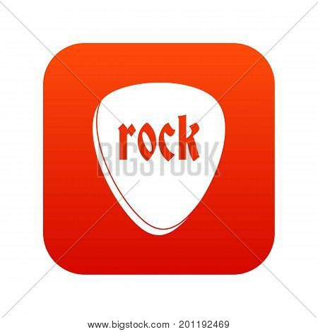 Rock stone icon digital red for any design isolated on white vector illustration