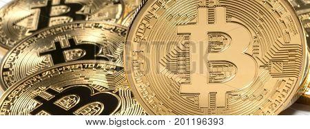 Golden Bitcoins. New virtual money. New virtual money.
